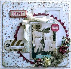 Delightfully Crazy: 'Lovely' Layout - My Creative Scrapbook - June Challenge