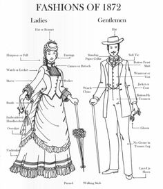 hoop-skirts-and-corsets: 1876 Costume reference by baronessboomboom - Historical Fashion 1870s Fashion, Victorian Fashion, Vintage Fashion, Victorian Era, Historical Costume, Historical Clothing, English Dress, Vintage Outfits, Bustle Dress