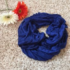 EUC! Royal Blue Scarf/Shawl Beautiful rich royal blue. The scarf is incredibly soft & can be worn multiple ways. Only worn once as a shawl for a wedding! Accessories Scarves & Wraps