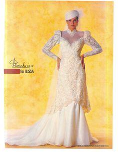 1985 Brides Magazine Ad Vintage Gowns, Vintage Weddings, Vintage Bridal, Wedding Attire, Wedding Gowns, 1980s Wedding Dress, Crazy Wedding, Photoshoot Themes, Brides