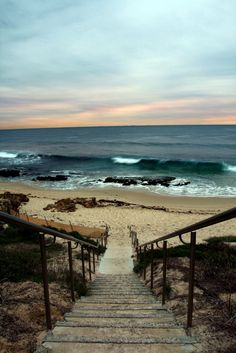 """""""Stairway to the Beach"""" [Photo source from *David*] 120815 The Beach, Ocean Beach, Beach Walk, Ocean Waves, South Beach, Surf Mar, Beautiful World, Beautiful Places, Beautiful Ocean"""