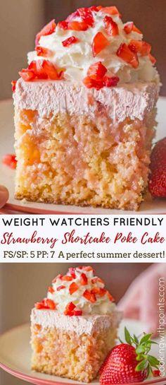 5 SP Weight Watchers Strawberry Poke Cake