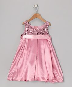 Take a look at this Pink Sequin Bubble Dress - Toddler & Girls by Kid's Dream on #zulily today!