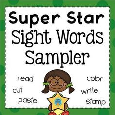 FREE Sight Words Sampler - Use this freebie with your Kindergarten or 1st grade classroom or home school students. It's great for practicing reading, spelling, building, and writing words. Use them for morning work, literacy centers or stations, homework, review, early or fast finishers, and more. Get your freebie today! {K & first grader}