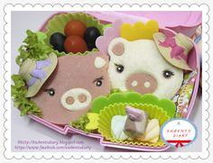 Karenwee's Bento Diary: Bento#April03A~CuteZcute Piggy Sandwiches