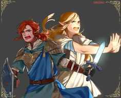 The Link and Zelda from the legend, 10,000 years ago