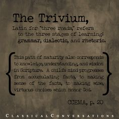 The Trivium #homeschool