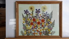 Real Pressed Flowers on 11 x 14 Canvas Hanging by FlowerFelicity, $49.99