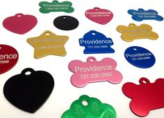 Anodized Pet ID Tags - Choose from Bone, Round, Heart, Hydrant, Paw, or Star Shapes - 9 Color Choices Available ** Want additional info? Click on the image. (This is an Amazon affiliate link)