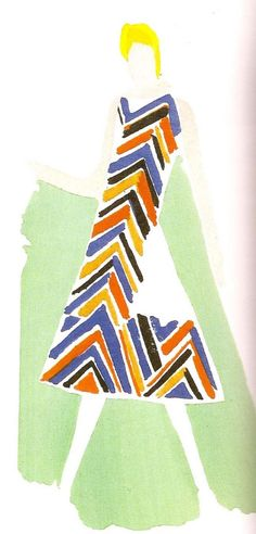 WEEK 4:  Sonia Delaunay d.1979 historical  ukranian  eduardo gouache  i love this work as it reminds me of my fear or faces and hands but the colours and pattern of the garment are so captivating.