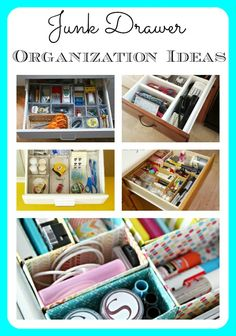 Sometimes the most disorganized area of a home is also the smallest. I'm talking about the junk drawer! Here are some great ideas to help you keep your junk drawer neat a tidy.