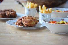 von kuechenereignisse.com  Cordon Bleu mit Pommes Frites