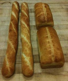 White Bread Loaves & Baguettes