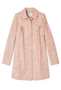 pink tweed / Cavallo Lurex Tweed Coat by Paul & Joe Sister