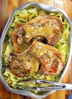 20 minute Pressure Cooker Pork Chops and Cabbage