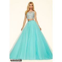 Prom Dresses by Paparazzi Prom - Dress Style 98101 ❤ liked on Polyvore featuring dresses, two-piece dresses, cocktail prom dress, blue two piece dress, two piece prom dresses and bubble dress