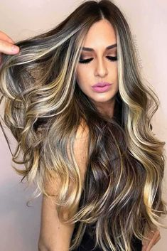 24 Stylish Ideas with Highlights for Dark Hair ★ Beautiful Ideas with Highlights for Long Hair Picture3 ★ See more: http://glaminati.com/highlights-for-dark-hair/ #hairstyles #highlights