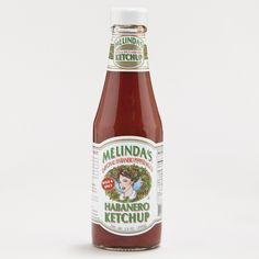 Melinda's Habanero Ketchup | World Market -- Bought some last weekend and it's AWESOME!!!  Nice, moderate heat on the back end, but not enough to interfere with the delicious traditional ketchup taste.  This is my new go-to ketchup!!!