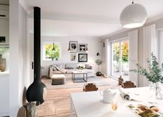 Klassisches Satteldach Haus SH 142 - ScanHaus Marlow | HausbauDirekt Minimalist Scandinavian, Modern Minimalist, Marlow, Oversized Mirror, House Plans, How To Plan, Furniture, Arch, Home Decor