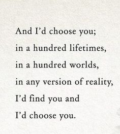 Cozy & Liam, I'd choose you in a hundred lifetimes, in a hundred worlds, in any version of reality, I'd find you, and I'd choose you!