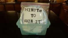 """Fun family party ideas for """"Minute to Win It"""""""