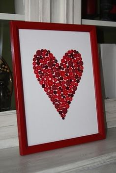 Would be cute to do with kids for a valentines day keepsake or to give to grandparents and have them sign it! :)