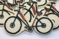 Bicycle Decorated Cookie Favor for the Bike by bakedperfection