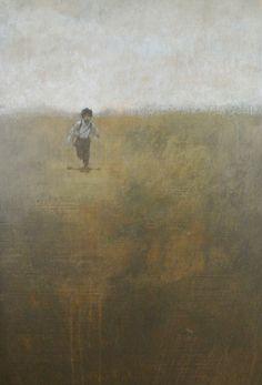 "Federico Infante, Paper Boy, 2013, Acrylic on Canvas, 48"" x 30"" #art #bdg #bdgny #painting"
