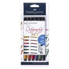 Pitt Artist Pens® offer odorless, permanent and waterproof inks that will not bleed through paper. The pigmented India inks are lightfast, acid-free and pH Neutral. 2.5 mm chisel tip is ideal for calligraphy, creative lettering, journaling, scarpbooking and other paper crafts. Available individually or in assorted sets. Store horizontally when not in use. Creative Lettering, Hand Lettering, Pitt Artist Pens, Calligraphy Pens, India Ink, Artist Life, Urban Sketching, Brush Pen, Green And Gold