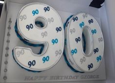 90th Number Male Birthday Cake
