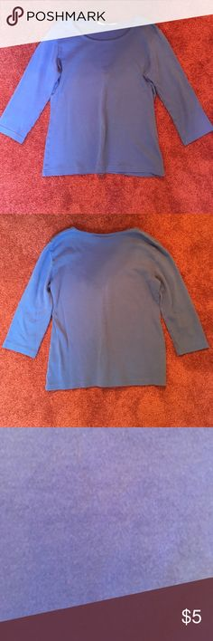 Women's scoop-neck 3/4 sleeves T-shirt (sport) 50% OFF! When sold- will be washed and ironed for your convenience! Karen Scott Tops Tees - Long Sleeve
