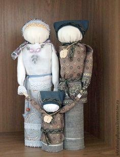 """Народные куклы ручной работы. Ярмарка Мастеров - ручная работа """"Крепкая семья"""" по мотивам народной куклы. Handmade."""