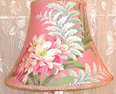 Beautiful #custom # lampshade in Vintage # barkcloth fabric