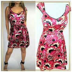 Guess Floral Satin Dress sz S Beautiful, soft Satin dress by Guess, SZ Small, Sleeveless Guess Dresses Mini