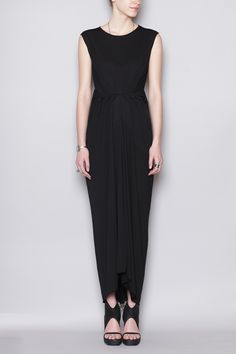 Rick Owens Lilies Sleeveless Dress (Black)