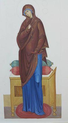 Virgin Mary, Byzantine Art, Religious Icons, Orthodox Icons, Our Lady, Fashion History, Fresco, Madonna, Christianity