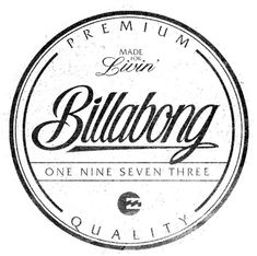 Billabong Logo Work by Nelson Nokela, via Behance Logo Sticker, Sticker Design, Badge Design, Logo Design, Billabong, Clothing Brand Logos, Surf Logo, Surf Brands, Vintage Surf