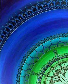 """blue and green gipsy drawing "" Aqua Coral, Cobalt Blue, Blue And Green, Love Blue, Peacock Colors, Green Colors, Color Shades, Shades Of Blue, Blue Bayou"