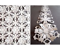 Interlinking Flowers made of waterproof and tear-proof paper.