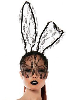 Starline Women s Lace Bunny Mask Headband Accessory 8e0699dfdd41