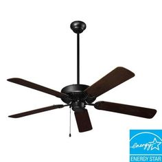 NuTone Wet Rated Series 52 in. Outdoor Barbecue Black Ceiling Fan Model # CFO52BQ Internet # 202943392 $116.31 Review ratings 4.5 stars.   NANCY'S FAVORITE