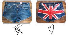#DIY #jubilee union jack shorts