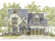 French Country Style 2 story 3 bedrooms(s) House Plan with 1928 total square feet and 3 Full Bathroom(s) from Dream Home Source House Plans