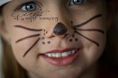 Easy bunny face painting