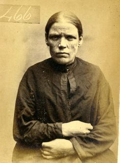 Mugshot: Catherine Flynn (aged 34). Sentenced to 6 months gaol for stealing money. ca. 1870s.
