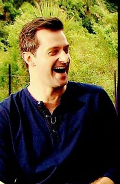 "I love his laugh!  (This is the interview when he mentions ""gonads of stone'..)"