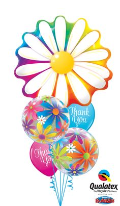 """Administrative Professionals Day is April are a great way to say """"thank you."""" This bouquet features a big Microfoil flower and unique Bubble Balloons. Click through to search for a balloon delivery professional in your area. Balloon Bouquet Delivery, Balloon Delivery, Balloon Words, Balloon Arch, Bubble Balloons, Foil Balloons, 6th Birthday Parties, Happy Birthday, Balloon Decorations"""