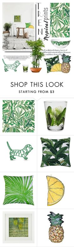 """""""Tropical Prints"""" by lacas ❤ liked on Polyvore featuring interior, interiors, interior design, home, home decor, interior decorating, Liberty Art Fabrics, Dermond Peterson, Silken Favours and Crate and Barrel"""