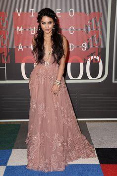 Vanessa Hudgens in Naeem Kahn attends the 2015 MTV Video Music Awards at Microsoft Theater on August 30, 2015 in Los Angeles, California.