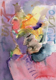 El ojo crítico - Autor: Anónimo sobre mancha de  Fabiana Echevarría